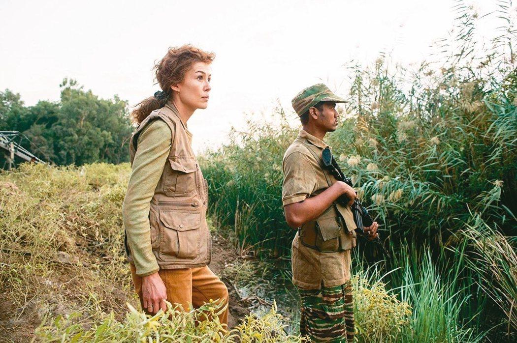 羅莎蒙派克在「私人戰爭」演出精彩,獲本屆金球獎影后提名。 圖/摘自imdb