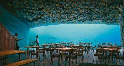 Under位於挪威的Baly,是歐洲第一間水下餐廳與香檳酒吧。 圖/各業者提供