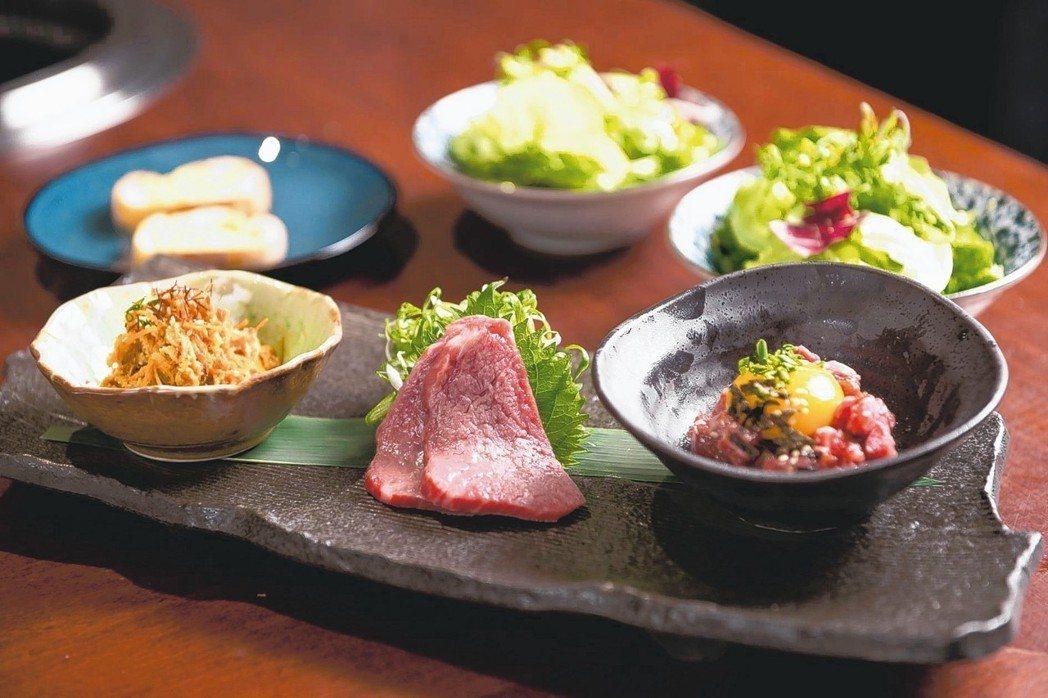 新開幕的梵燒肉Vanne推出極料理套餐,每套3,280元。 圖/梵燒肉提供