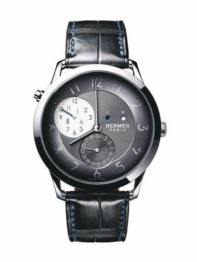 愛馬仕Slim d'Hermes 兩地時間腕表,52萬5,000元,限量120只...