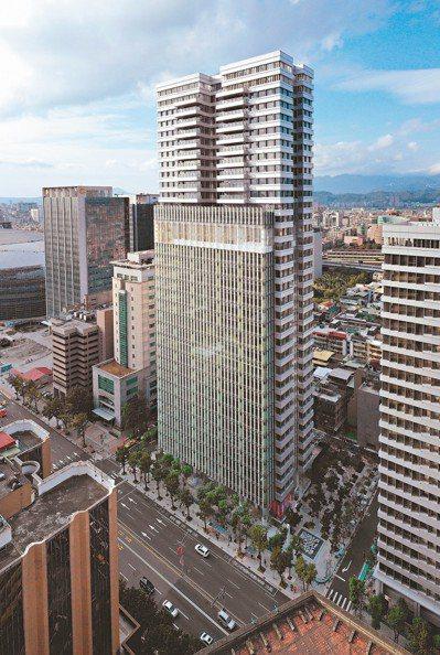 聯合報新大樓屹立於人文與商業中心區。 圖/璞園建設團隊提供
