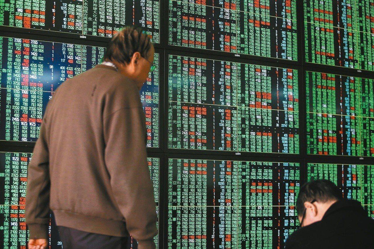 台股自2019年開紅盤以來連跌3個交易日,指數共下跌334點。 聯合報系資料照