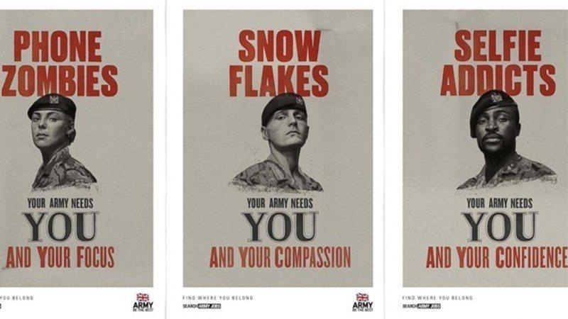 英國國防部為提振募兵成效,近日推出一系列饒有創意的海報。圖/英國國防部提供