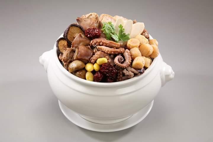 螺情石鮔干貝佛跳牆。 漢典食品/提供