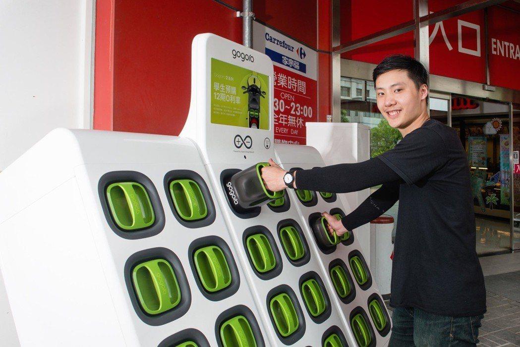 Gogoro全台電池交換站達到1,000站。 圖/Gogoro提供