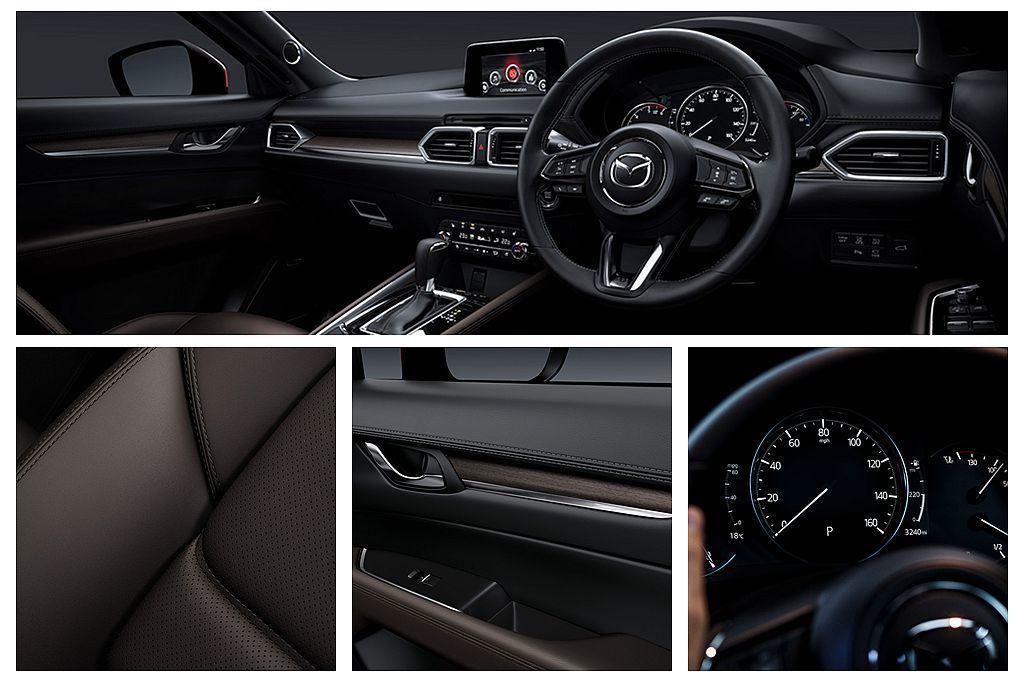 最頂級的GT Sport Nav+車型,除外觀升級19吋輪框外,內裝則換上實木飾...