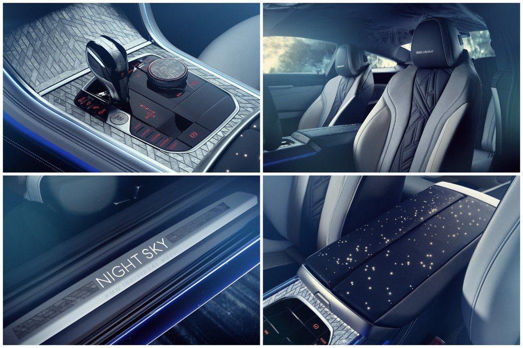 融入隕石的內裝部件。 摘自BMW