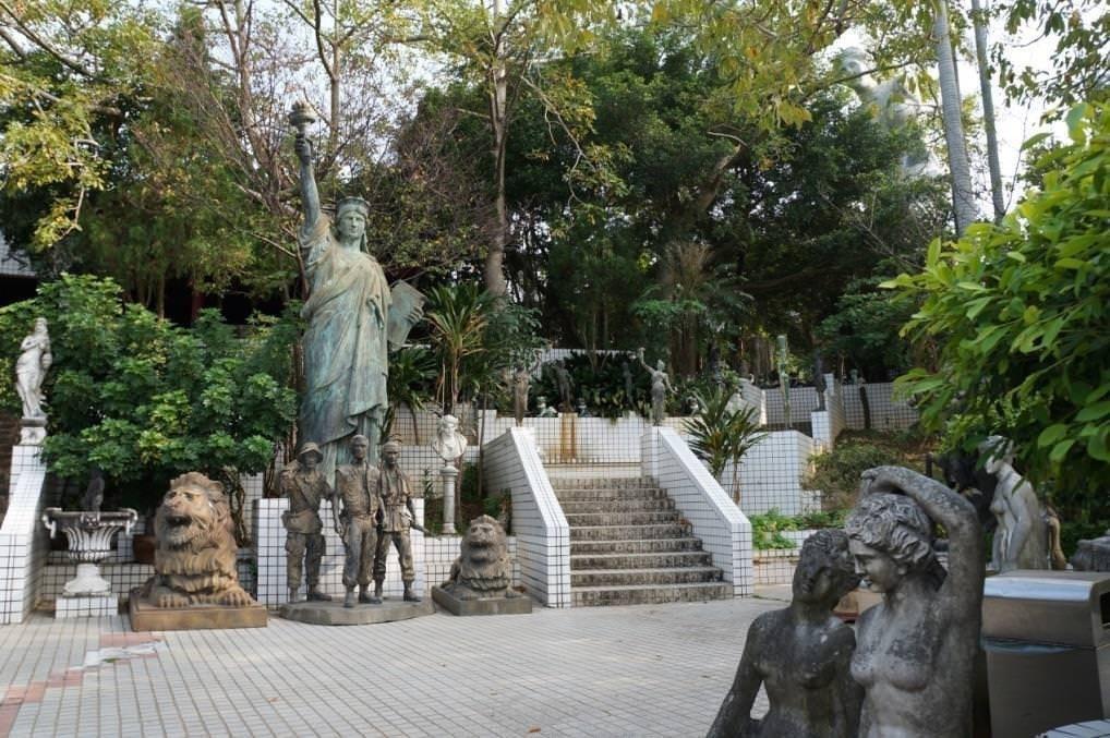 古奇峰育樂園內的西洋公園 圖片來源/ 心足旅圖