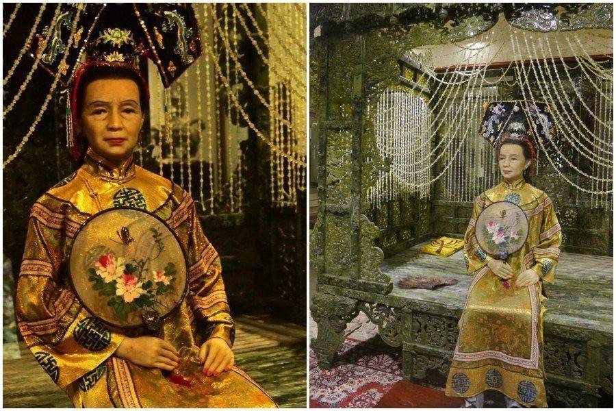 古奇峰育樂園內的慈禧皇后蠟像 圖片來源/ 心足旅圖