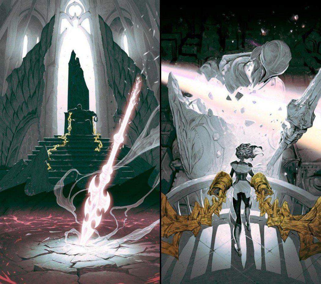 嘉文與拉克絲皆被鎖鏈束縛,並疑似攻擊自家城邦。