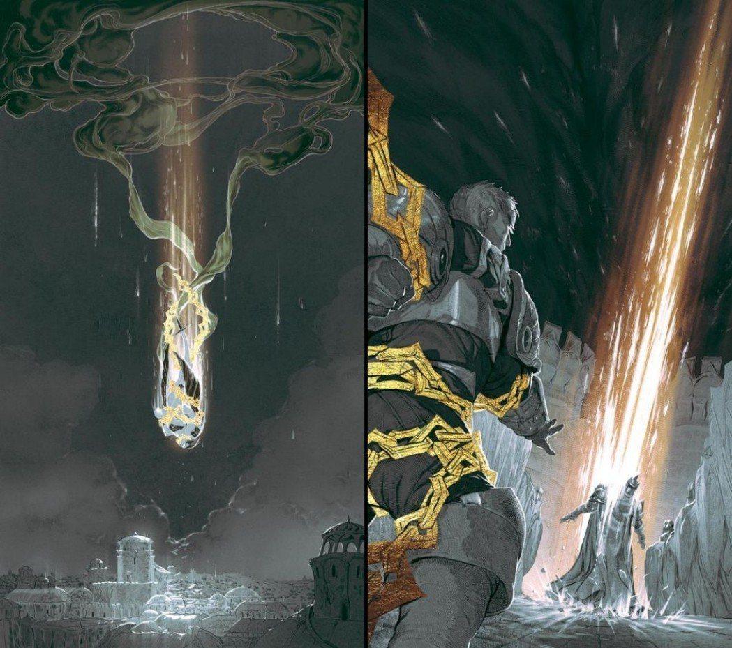 加里歐與蓋倫皆被鎖鏈束縛,並疑似攻擊自家城邦。