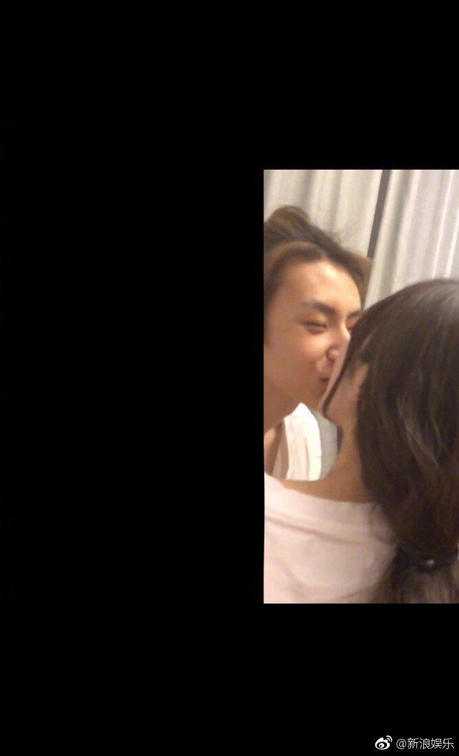 小鬼吻照被曝光。圖/擷自微博