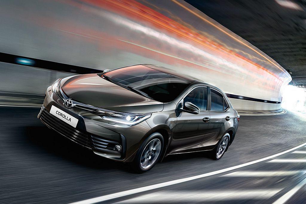 全球最暢銷的都會家庭級距車款Toyota Corolla依舊穩坐第一,雖然繳出1...