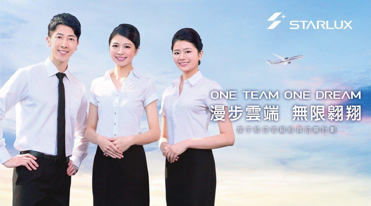 星宇航空宣布首梯客艙組員招募計畫。 圖/星宇航空提供