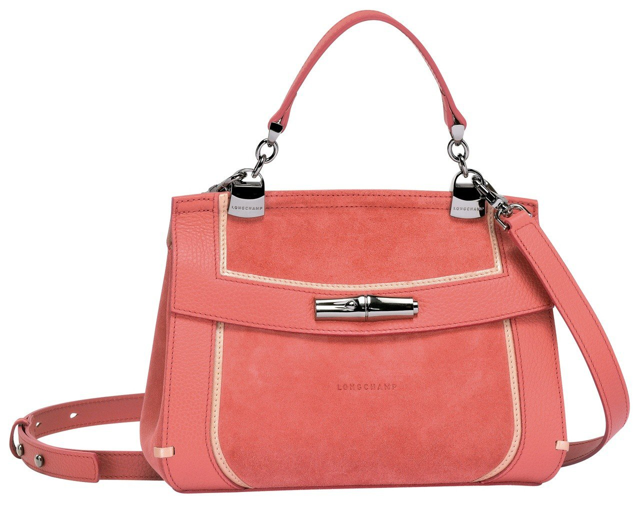 Madeleine無花果色斜背袋,售價28,600元。圖/LONGCHAMP提供