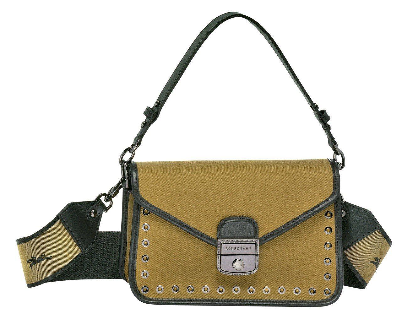 Mademoiselle Longchamp Toile卡其色荷篷包,售價21,...