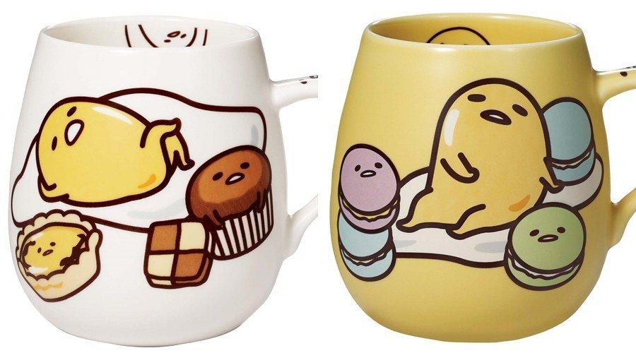 蛋黃哥馬克杯有白、黃兩款顏色(隨機出貨)。圖/85度C提供