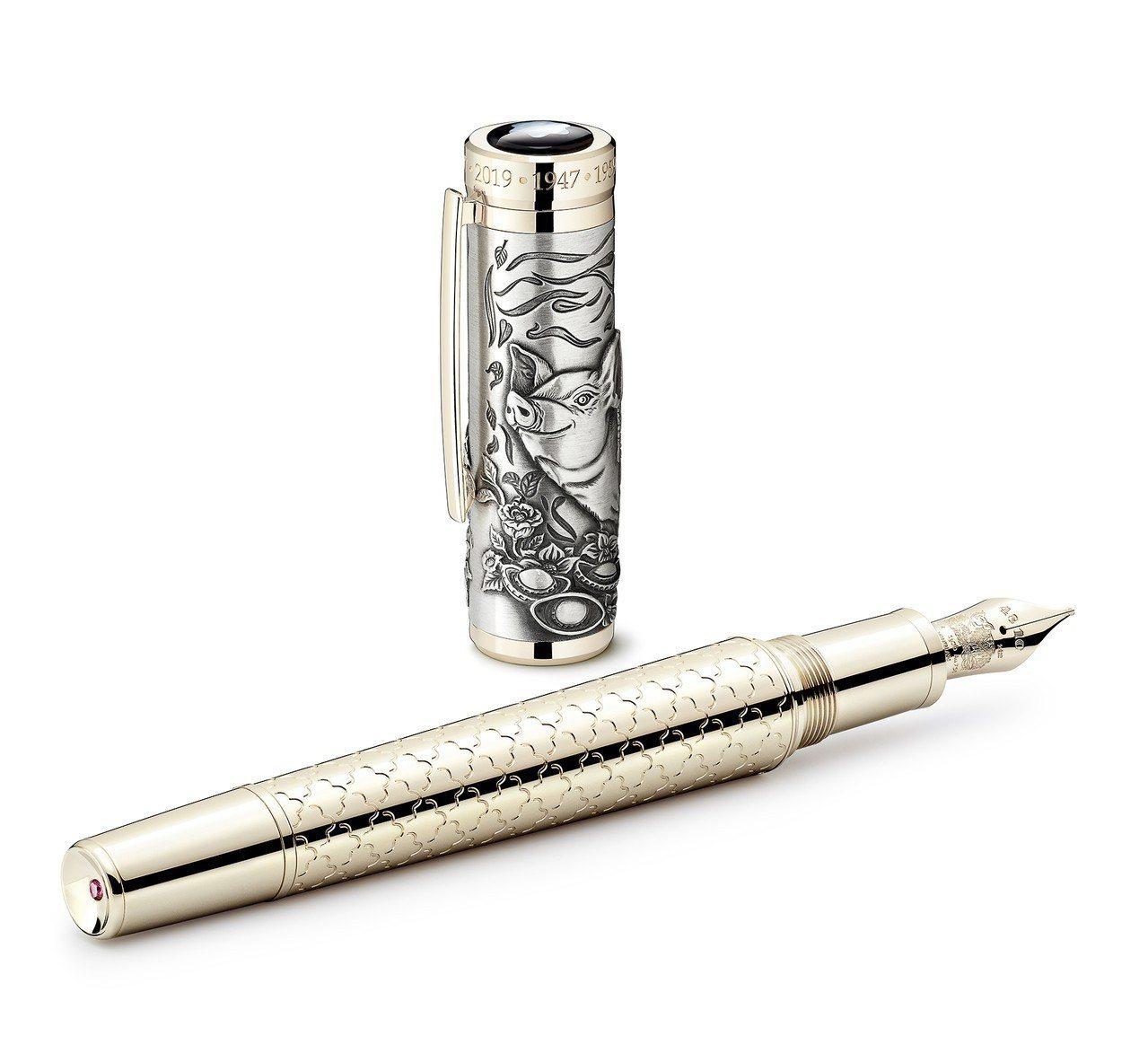 萬寶龍生肖與符號系列豬年限量款512鋼筆,17萬7,000元,限量512支。圖/...