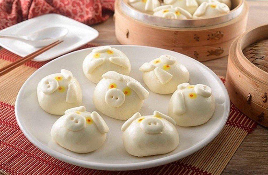 香港飲茶點點心豬仔流沙包12入,松果購物特價699元。圖/松果購物提供