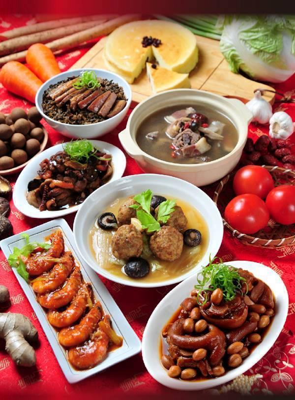 紅豆食府富貴吉祥年菜7件組(2~3人份),博客來特價1,999元。圖/博客來提供