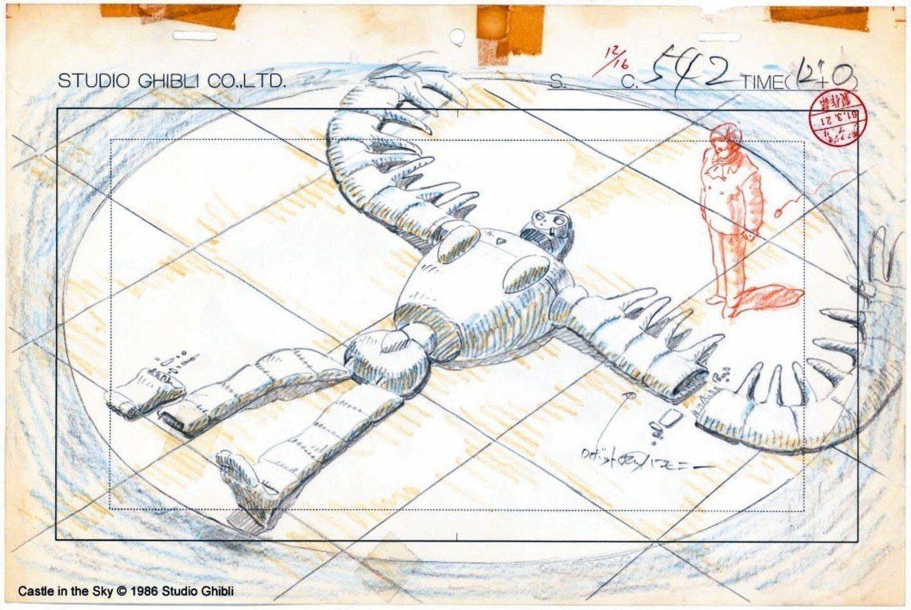 「吉卜力動畫手稿展」將一次公開天空之城、龍貓、神隱少女、霍爾的移動城堡等歷年動畫...