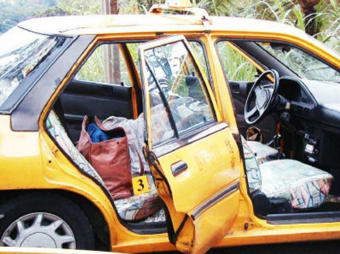 計程車司機倒臥車後座,被發現時已經死亡。本報資料照片 記者何祥裕/攝影
