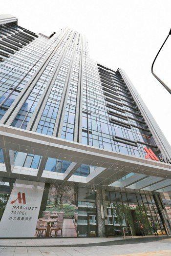 不動產投資專家對旅館投資的信心指數已慢慢回升。圖為台北萬豪酒店。 圖/聯合報系資...