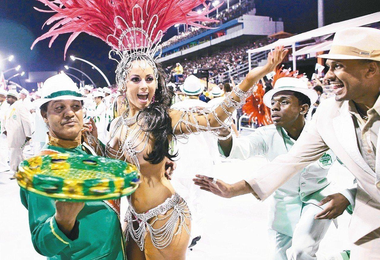 圖為巴西嘉年華。 美聯社(聯合報資料照)