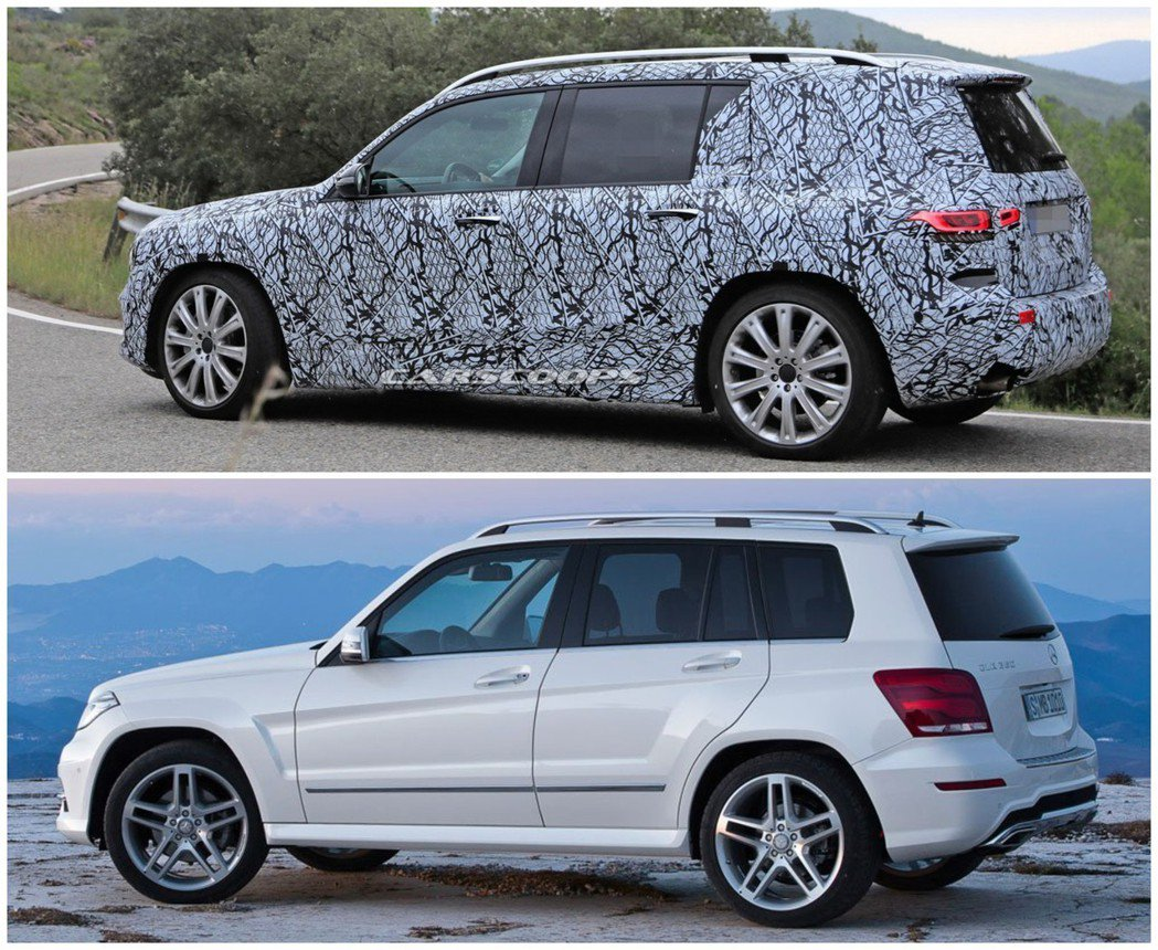 全新Mercedes-Benz GLB的車身造型,讓人想起之前的GLK。 摘自C...