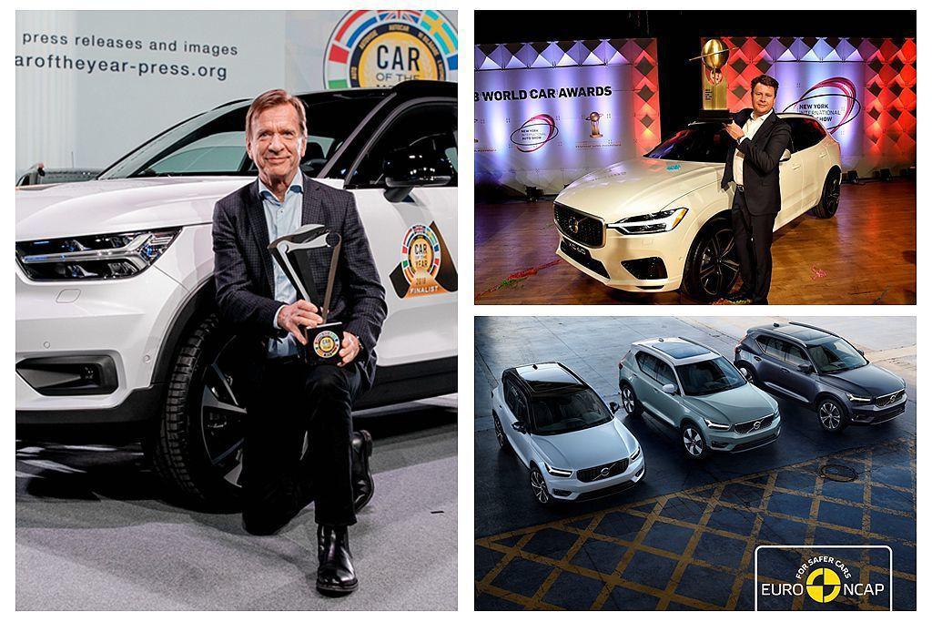 去年品牌聲望達到歷史新高的Volvo汽車,去年旗下兩款休旅在全球各地獲獎連連,且安全性依舊備受歐、美新車測試權威機構肯定。 圖/Volvo Car提供