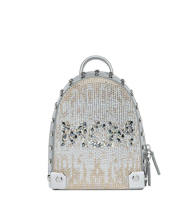 Stark銀色水晶後背包,售價11萬7,000元。圖/MCM提供