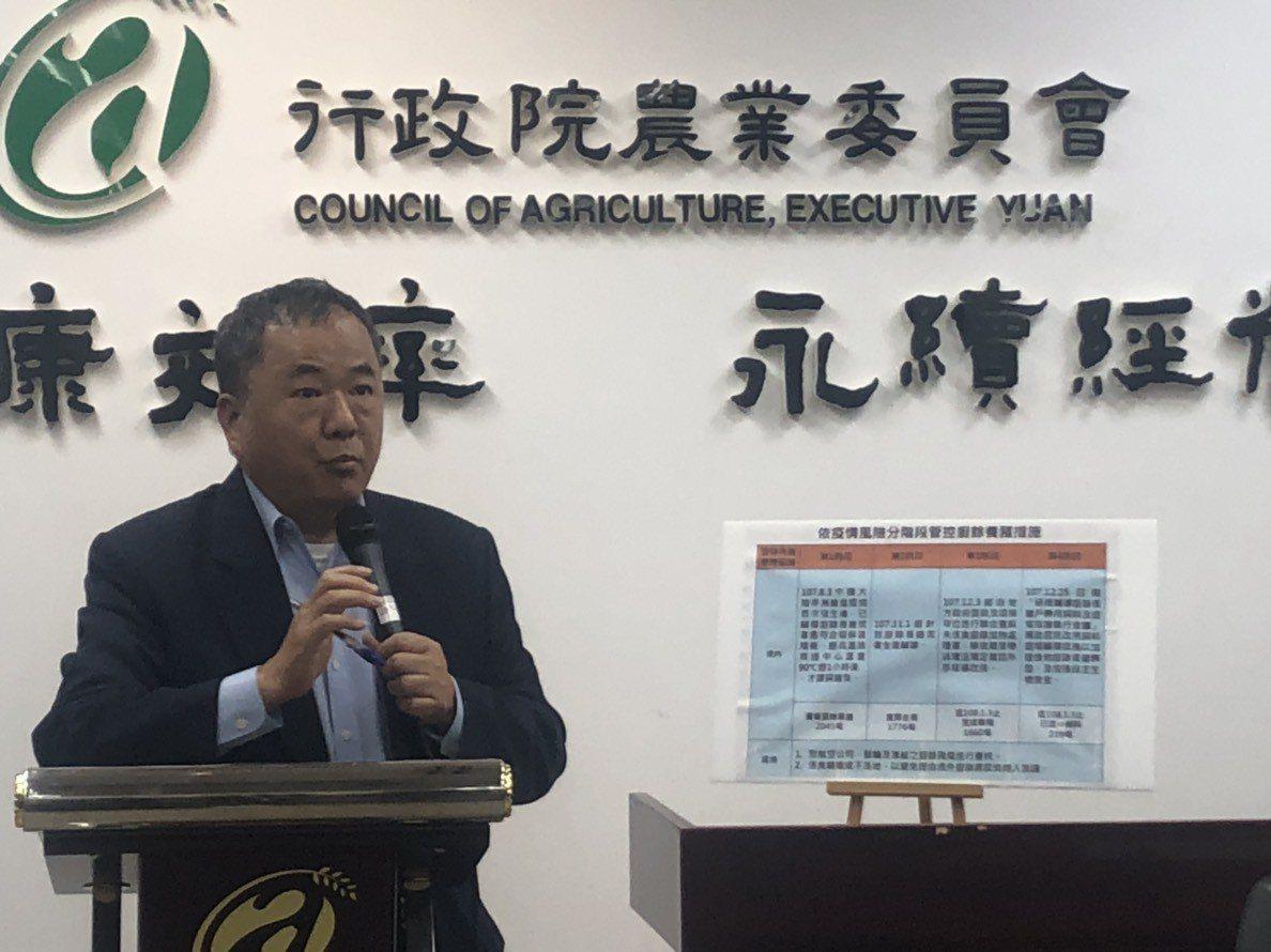 農委會主秘張致盛。記者侯俐安/攝影