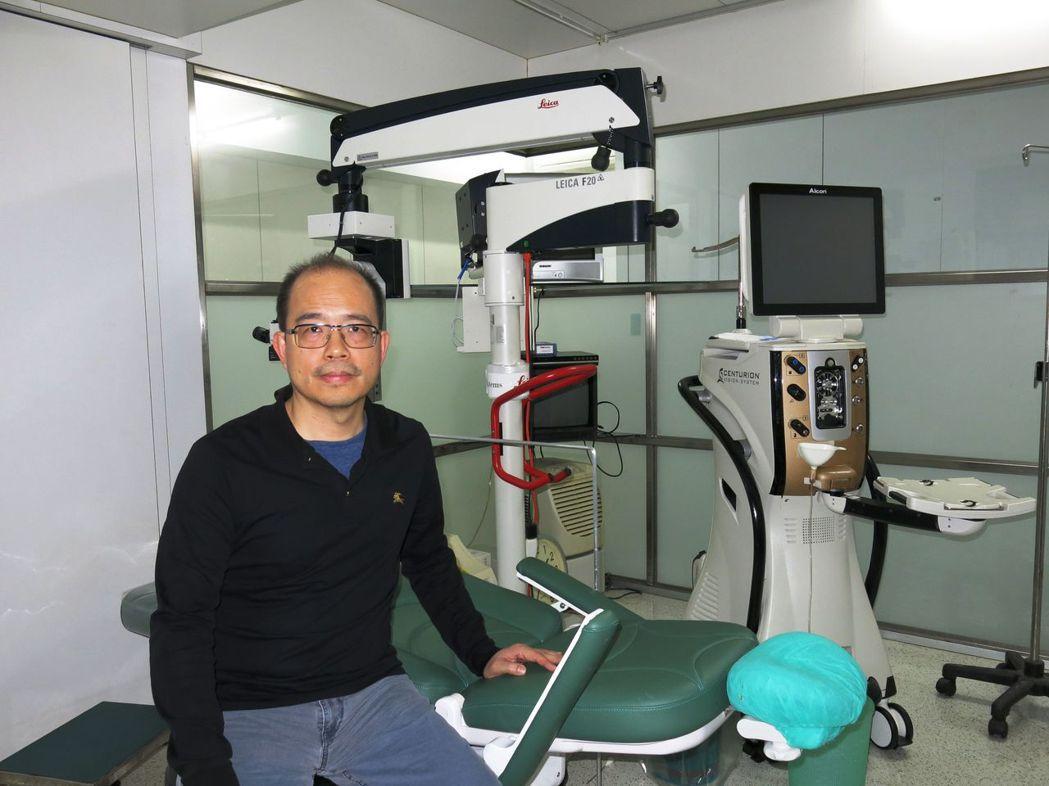 位於台中豐原的光明眼科診所,106年執行白內障手術1747件,使用健保人工水晶體...