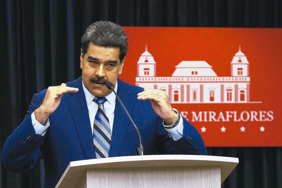 馬杜洛(Nicolas Maduro)去年在大選中獲勝連任總統。 聯合報系資料照...
