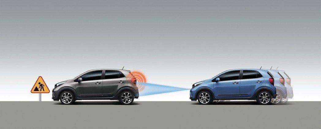 KIA Picanto以不到60萬即配備AEB自動緊急煞車輔助系統,將刺激其他品牌跟進。 圖/台灣森那美起亞提供