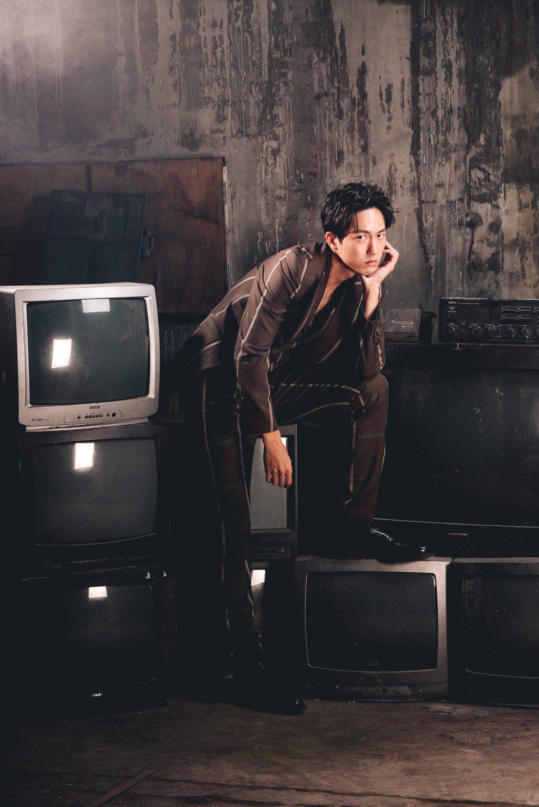 邱昊奇正拍攝電視劇「必勝大丈夫」。圖/幸星娛樂提供