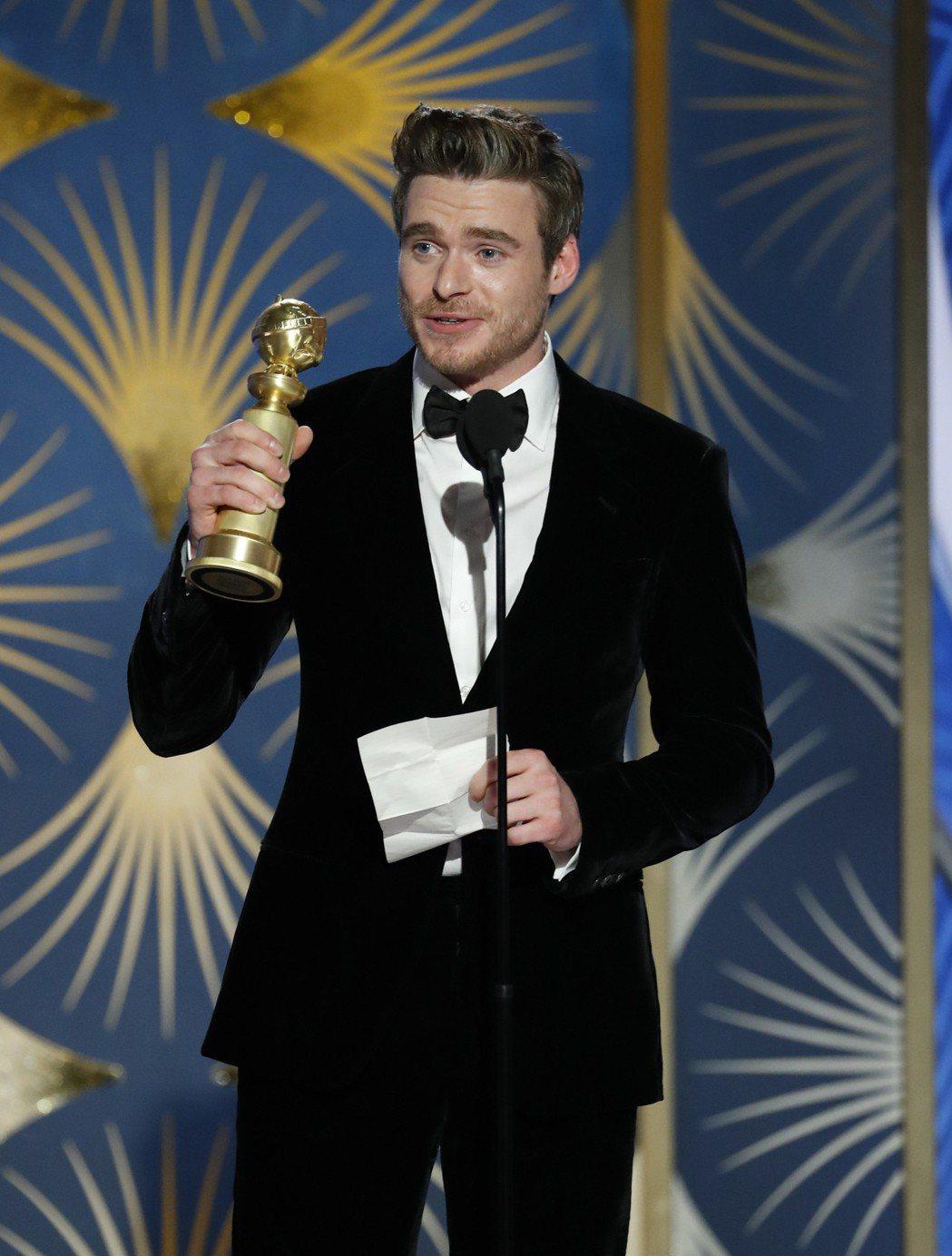 李察馬登以「內政保鑣」奪得金球獎最佳戲劇類影集男主角大獎。 圖/美聯社