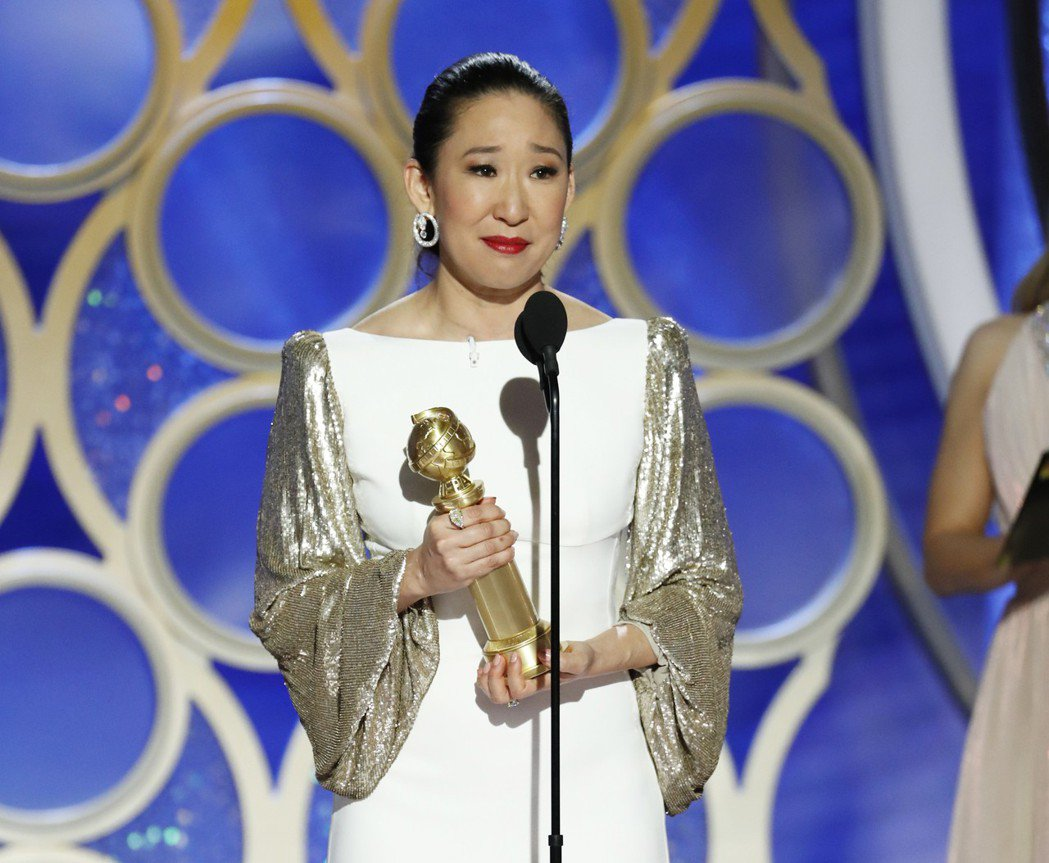 吳珊卓以「追殺夏娃」獲得金球獎最佳戲劇類影集女主角。 圖/美聯社