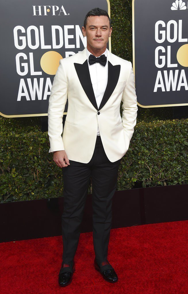 Luke Evans出席第76屆金球獎頒獎典禮。圖/美聯社