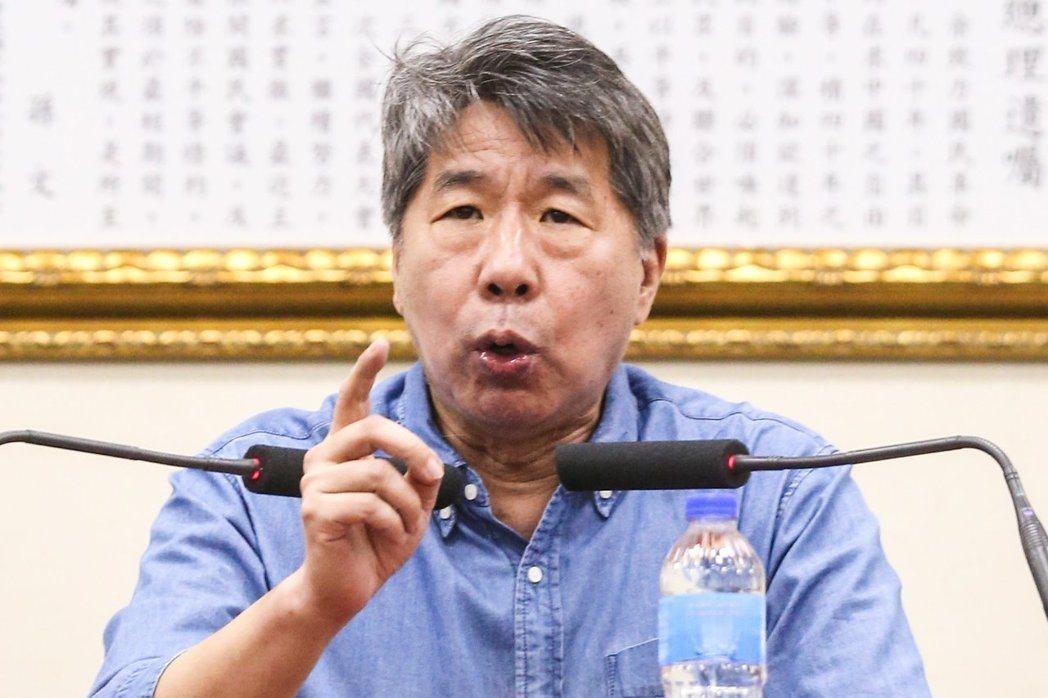 台大學政治系教授張亞中。聯合報系資料照片