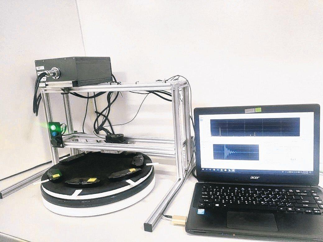 昭和電裝品圓盤式-人工智慧(AI)非破壞性檢測系統。 昭和電裝品/提供
