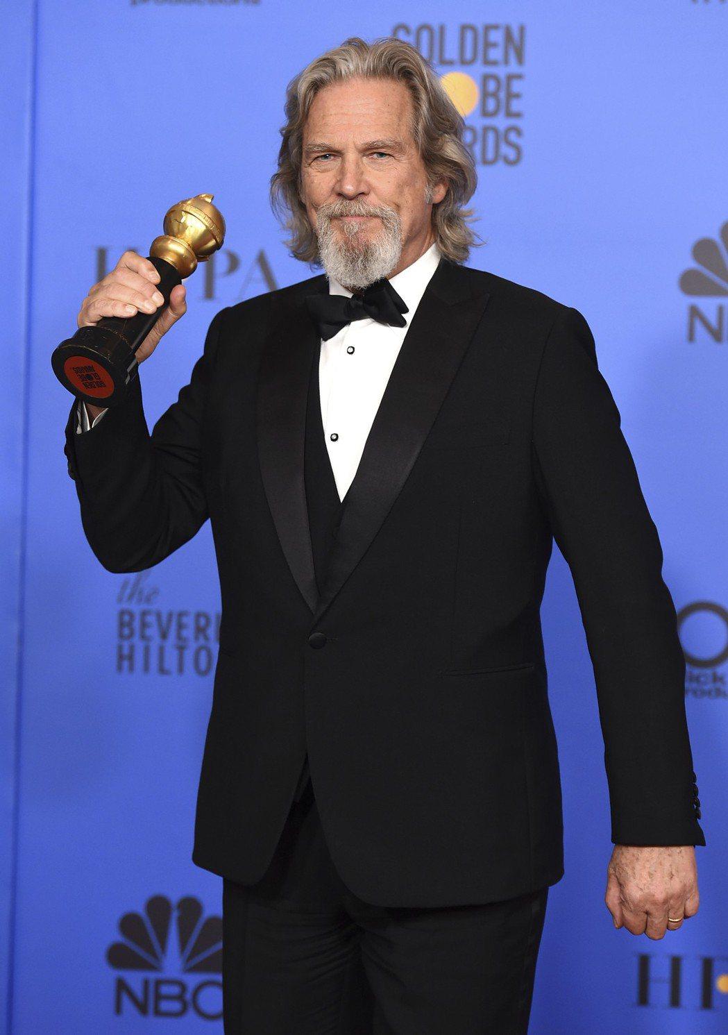 69歲美國男星傑夫布里吉(Jeff Bridges)獲得金球獎終身成就獎。圖/美