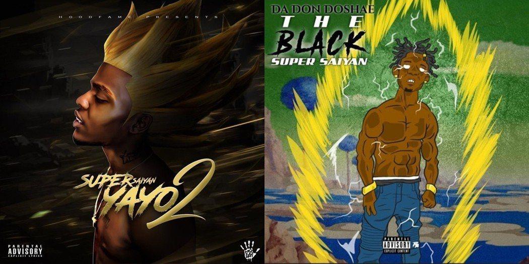 《七龍珠》魅力所及,甚至影響了整個世代的黑人嘻哈歌手。左圖為歌手 Go Yayo...