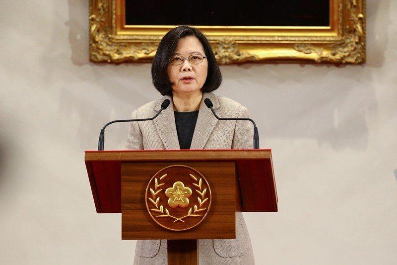 蔡英文總統要求中國正視中華民國台灣存在的事實。 圖/聯合報系資料照