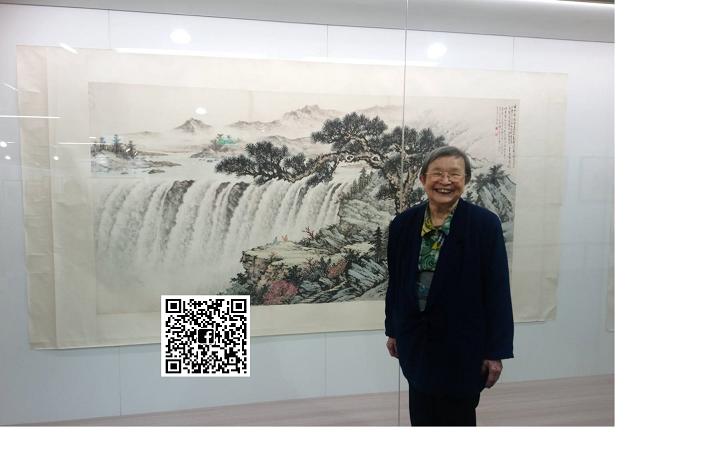 國畫大師黃君璧弟子張福英。 從雲軒畫廊展視中心/提供