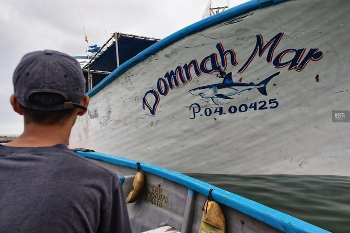 Delgado即將登上Domnah Mar號。