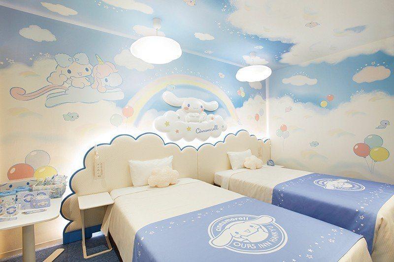 「天空之房」天花板精心設計為天空的模樣,在房內尋找躲藏的大耳狗吧!