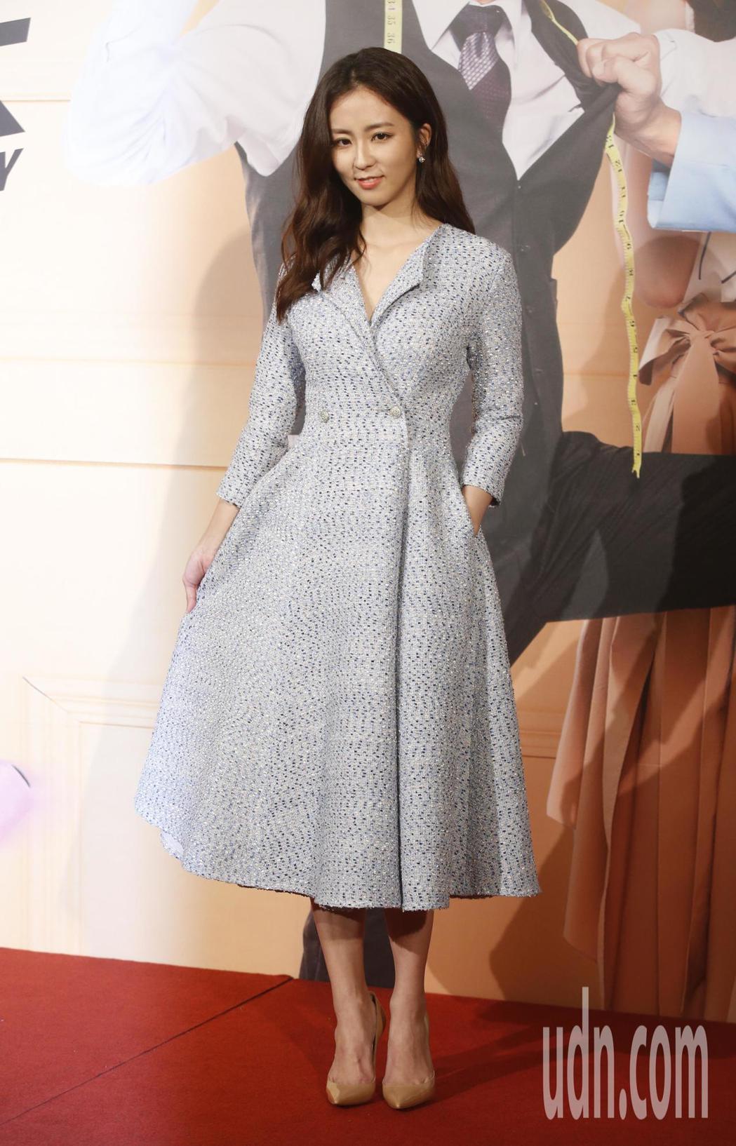 三立新八點華劇「必勝大丈夫」下午舉行首映會,女主角周曉涵。記者鄭超文/攝影