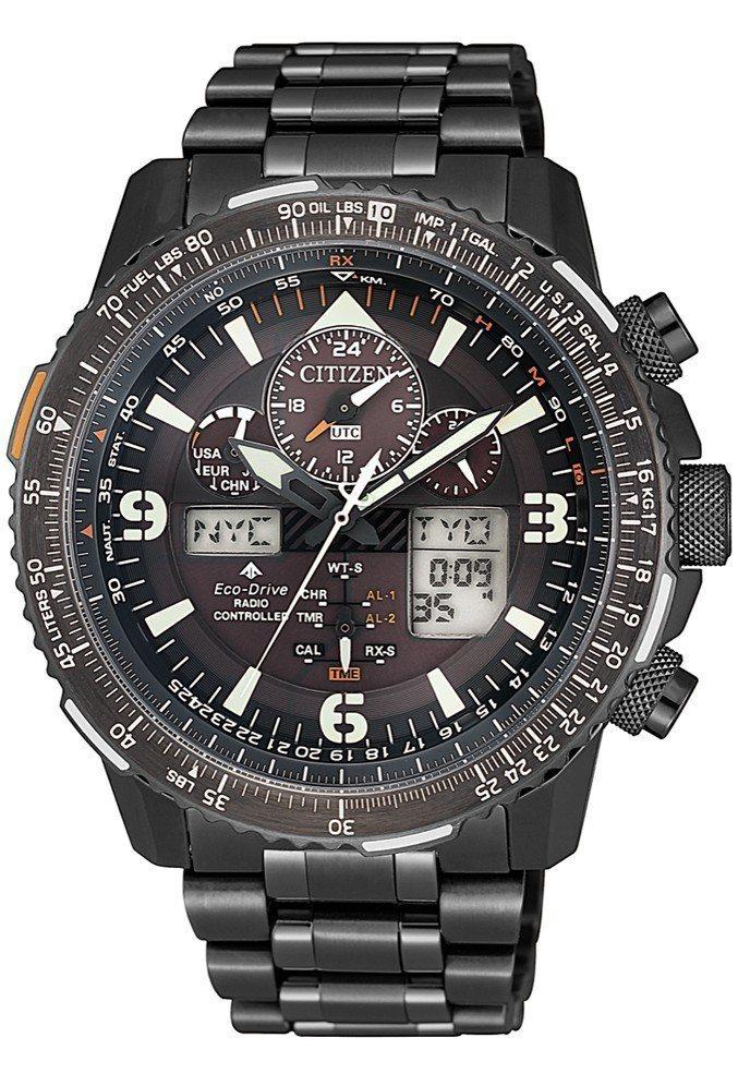 星辰Promaster Sky系列JY8085-81E腕表,不鏽鋼表殼,全台限量...