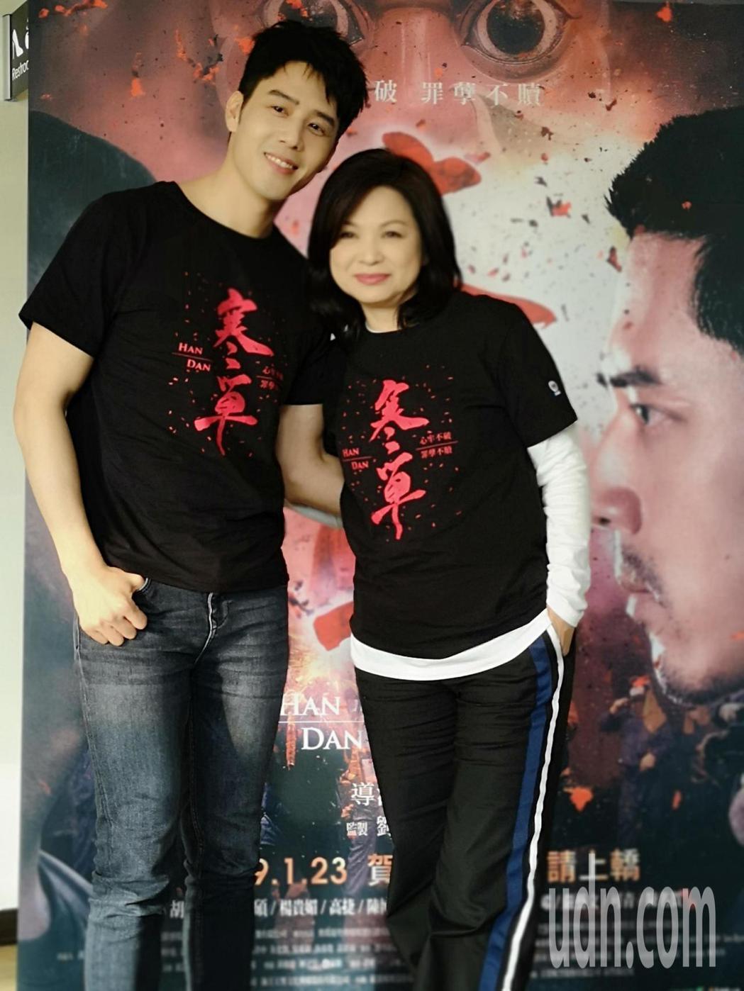 電影寒單今天舉行試映會,胡宇威、楊貴媚分享電影寒單觀後感。記者邱德祥/攝影